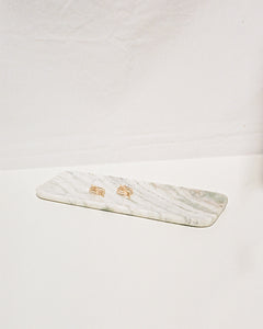 marble tray in white/green/pink