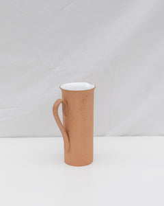 tall terra cotta decanter