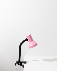 pink desk lamp with clip