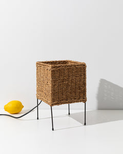 rotan table lamp
