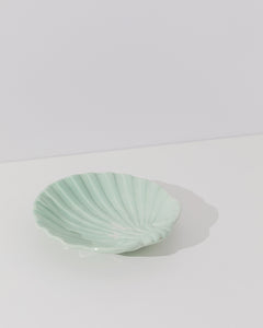 mint green ceramic plate