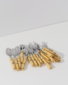 faux bamboo cutlery set