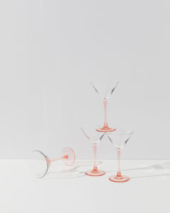pink martini glasses set