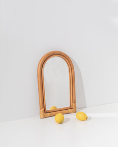 arch mirror in bamboo