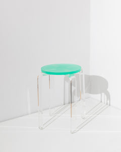 acrylic stool green