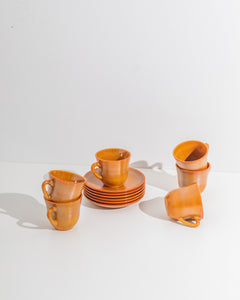 glass amber espresso cups