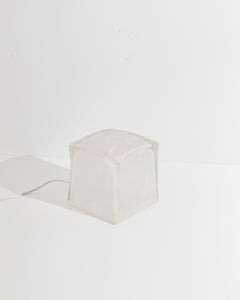 glass cube table lamp
