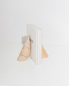 bookends in teak marble