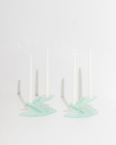 architectural glass candlesticks