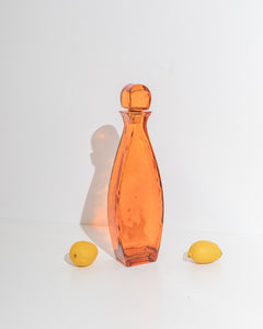 tall amber bottle