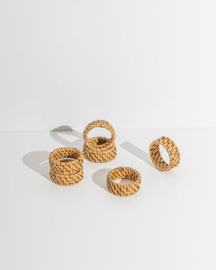 rotan napkin holder set