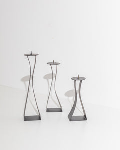 sculptural candle stick set