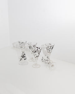 large mouthblown goblet set