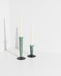 candle stick set in green marble