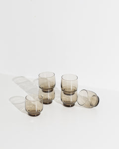 smoke grey tumbler set