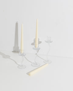 swirling candle stick set