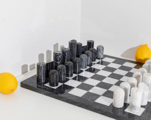 large architectural chess board