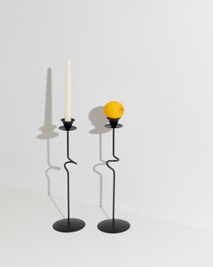 tall sculptural candle stick set