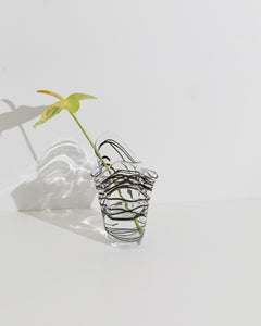 mouthblown fold vase