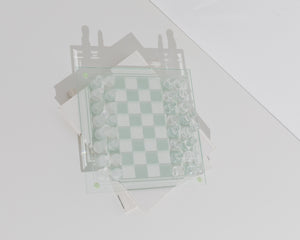 large glass chessboard