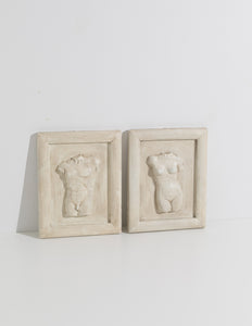 torso wall sculpture couple