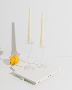 swirling candle holders