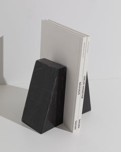 black marble book end set