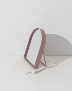 arch table mirror pink