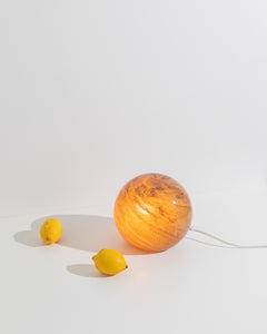 murano orb lamp brown