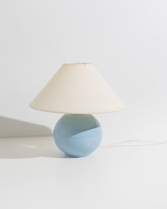 pastel blue table lamp
