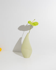 pastel green sculptural vase