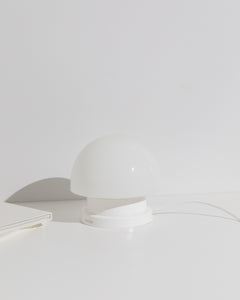 mushroom table lamp white base