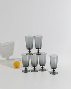 glass large goblet set