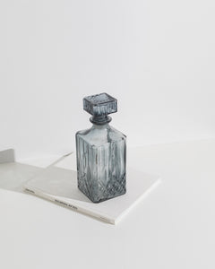 smoke grey glass bottle