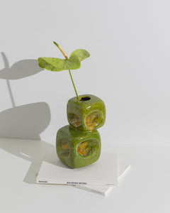green bertoncello vase