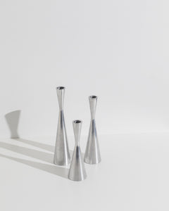 metal candle stick set