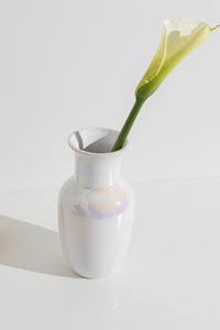 iridescent ceramic vase
