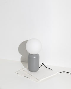 grey orb lamp