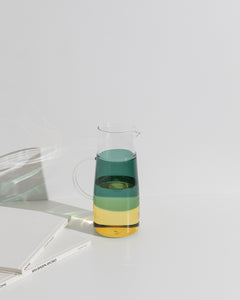 glass jug green/yellow