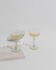 champagne coupe green