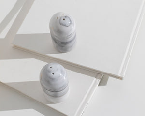 marble pepper and salt shakers