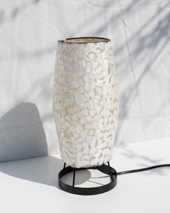 handmade shell table lamp