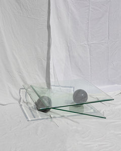 architectural glass coffee table
