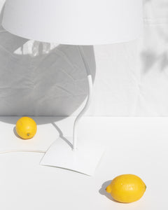 swirling white table lamp