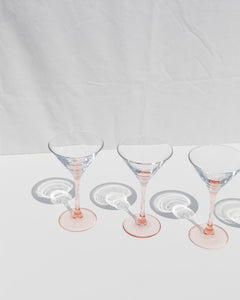 pink cocktail glasses set