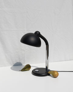 black/chrome desk lamp