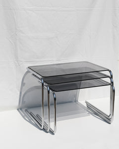 chrome side table set
