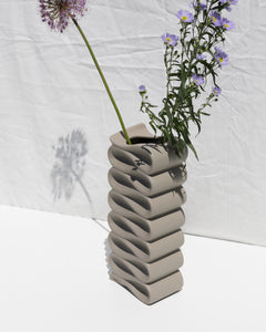 tall folded ceramic vase