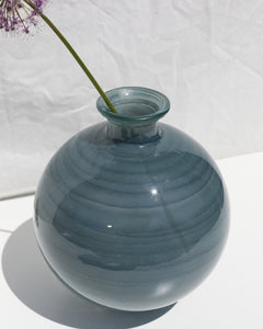 large glass orb vase