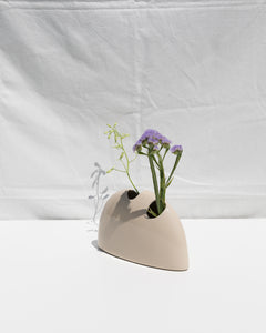 creme ceramic sculptural vase